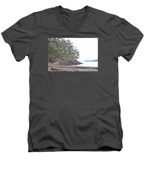 Deception Pass In Late December  Men's V-Neck T-Shirt