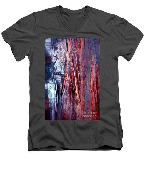 Decision Time Men's V-Neck T-Shirt by Valerie Travers