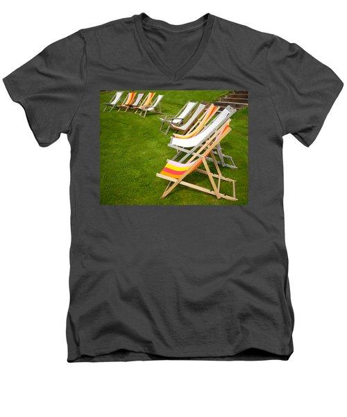 Deck Chairs Men's V-Neck T-Shirt