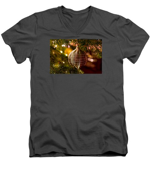 Deck The Halls Men's V-Neck T-Shirt by Derek Dean