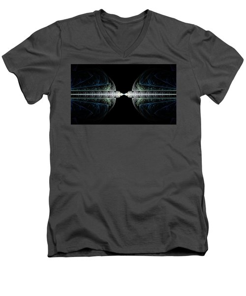 Men's V-Neck T-Shirt featuring the digital art Deco And Diamonds by Lea Wiggins