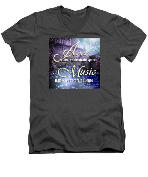 Decorate Men's V-Neck T-Shirt
