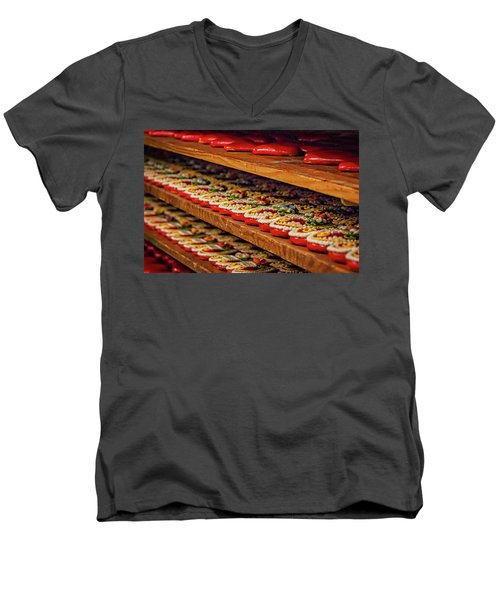 Men's V-Neck T-Shirt featuring the photograph Decorated Gingerbread - Slovenia by Stuart Litoff