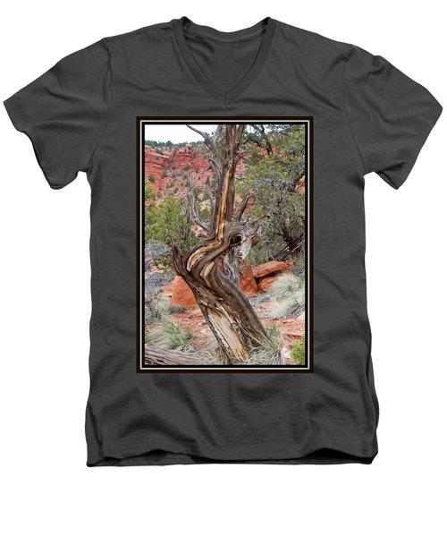 Decorative Dead Tree Men's V-Neck T-Shirt