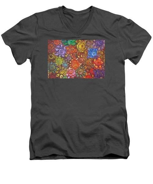 Decorative Flowers Men's V-Neck T-Shirt