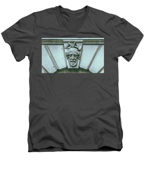 Decorative Keystone Architecture Details A Men's V-Neck T-Shirt