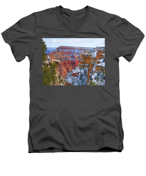 Men's V-Neck T-Shirt featuring the photograph Deep And Wide by Roberta Byram