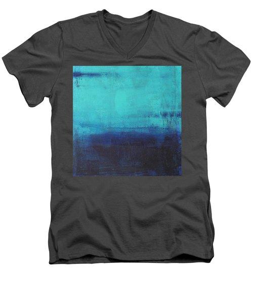 Deep Blue Sea Men's V-Neck T-Shirt by Nicole Nadeau