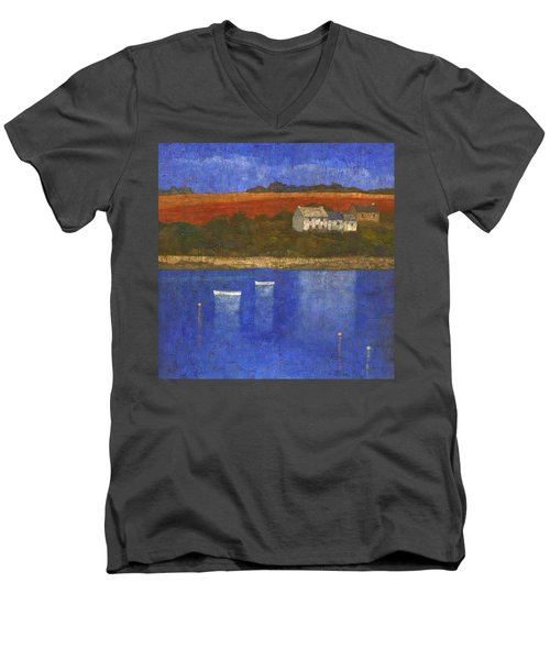Deep Blue Men's V-Neck T-Shirt