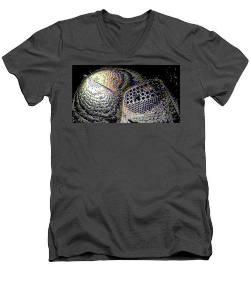 Men's V-Neck T-Shirt featuring the digital art Deep Dark by Ron Bissett