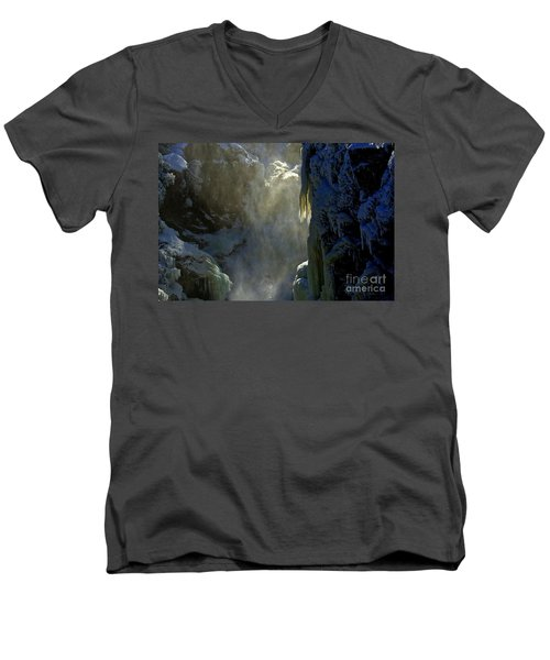 Deep Men's V-Neck T-Shirt by Elfriede Fulda