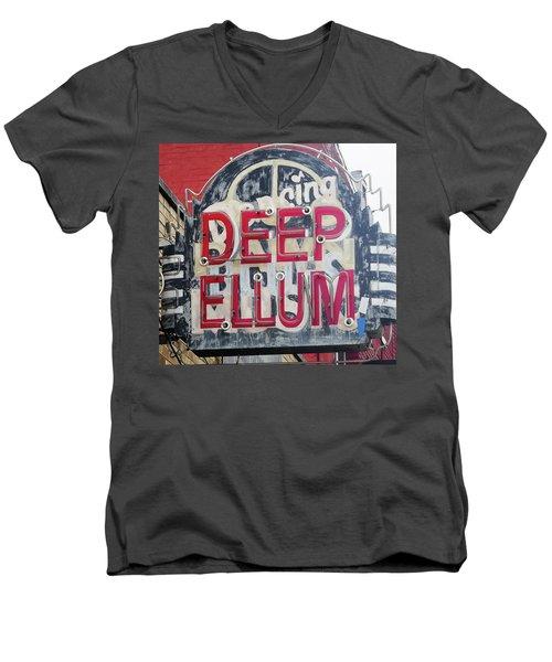Deep Ellum Dallas Texas Men's V-Neck T-Shirt