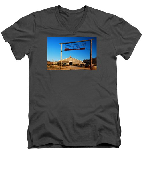 Deep Hollow Ranch  Men's V-Neck T-Shirt by James Kirkikis