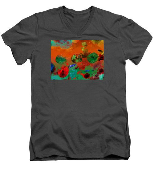 Deep In The Sea Men's V-Neck T-Shirt by Haleh Mahbod