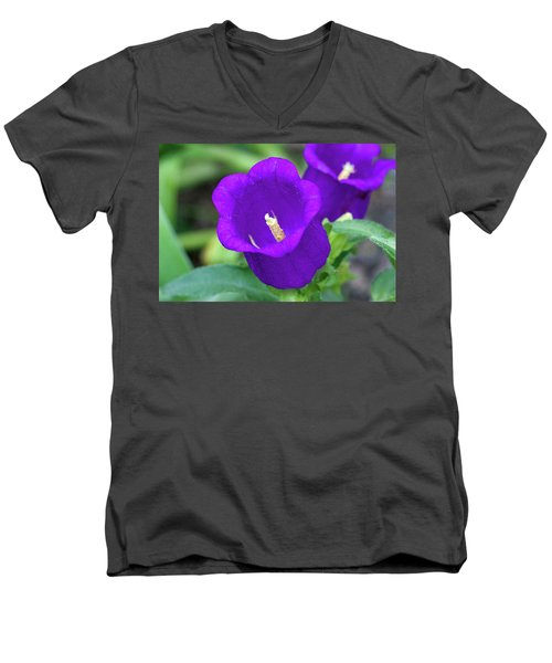 Deep Purple Men's V-Neck T-Shirt by Jim Gillen