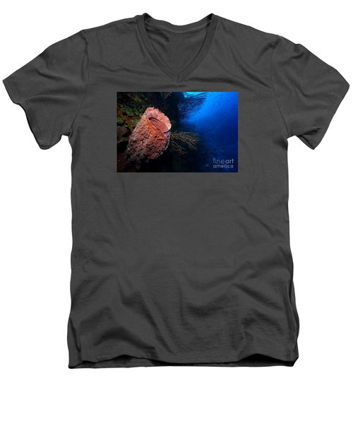 Men's V-Neck T-Shirt featuring the photograph Deep Reef by Aaron Whittemore