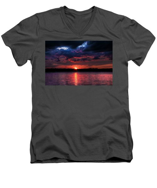 Deep Sky Men's V-Neck T-Shirt