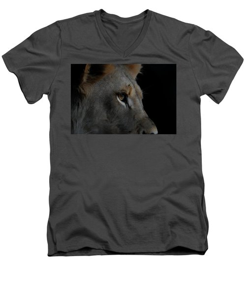 Men's V-Neck T-Shirt featuring the digital art Deep Thought by Ernie Echols