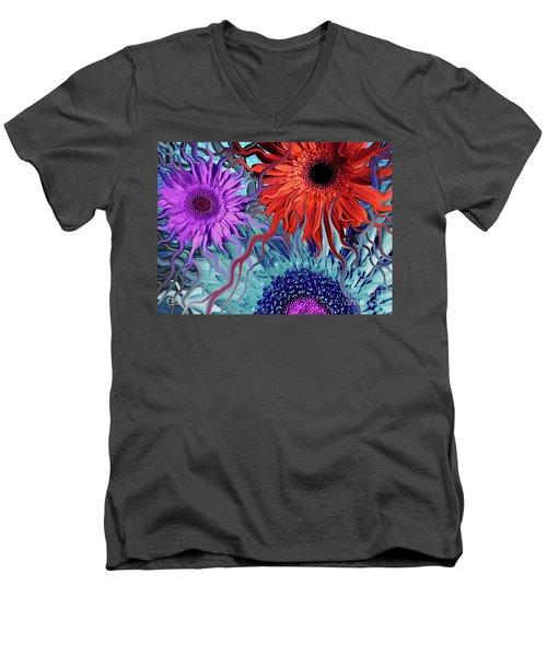 Deep Water Daisy Dance Men's V-Neck T-Shirt