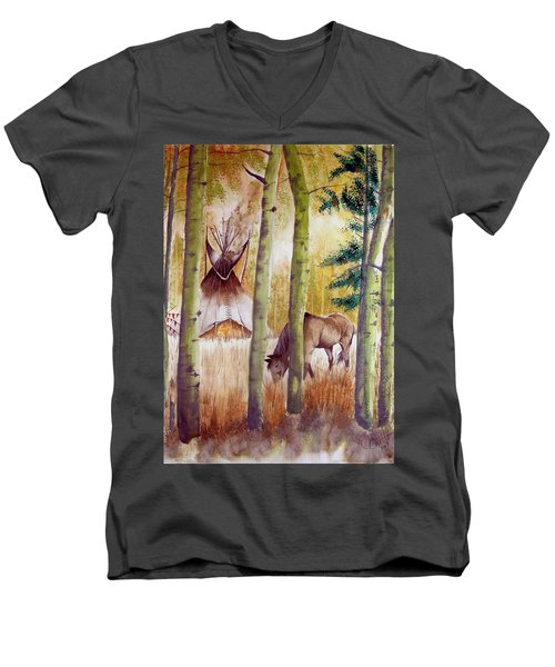 Deep Woods Camp Men's V-Neck T-Shirt