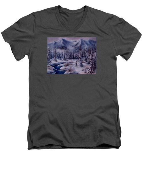 Deer Creek Men's V-Neck T-Shirt by Katia Aho