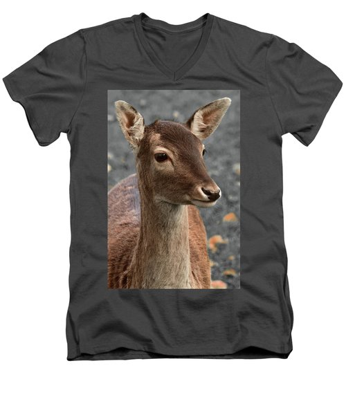 Deer Portrait Men's V-Neck T-Shirt