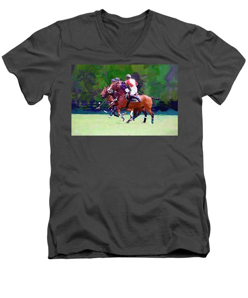 Men's V-Neck T-Shirt featuring the photograph Defend by Alice Gipson