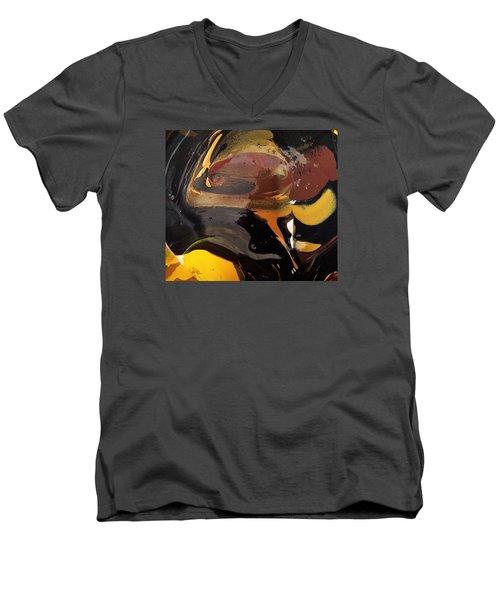 Defender Of The Universe Eating Sour Cream Men's V-Neck T-Shirt by Gyula Julian Lovas