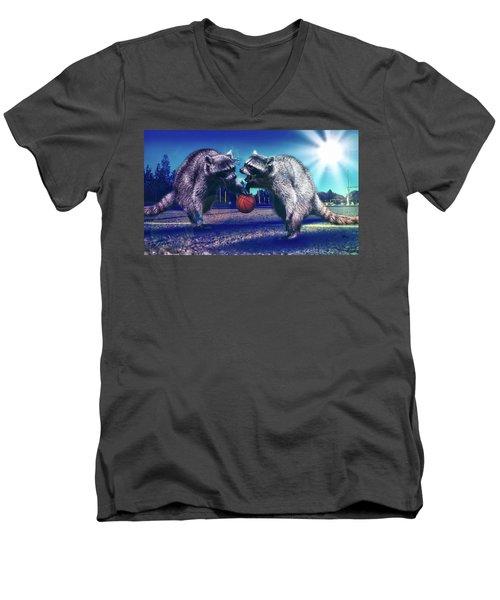 Defense Men's V-Neck T-Shirt by Jonny Lindner