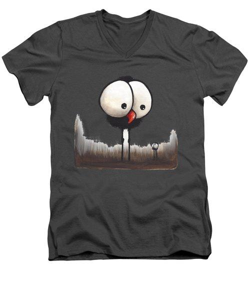 Defiant Little Spider Men's V-Neck T-Shirt by Lucia Stewart