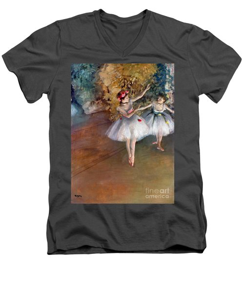 Degas: Dancers, C1877 Men's V-Neck T-Shirt