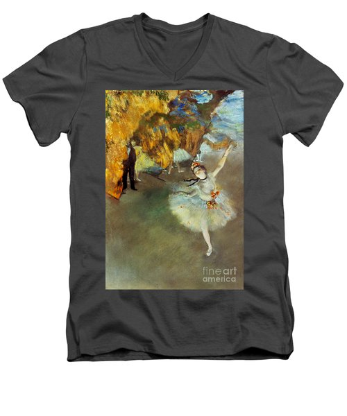 Degas: Star, 1876-77 Men's V-Neck T-Shirt by Granger