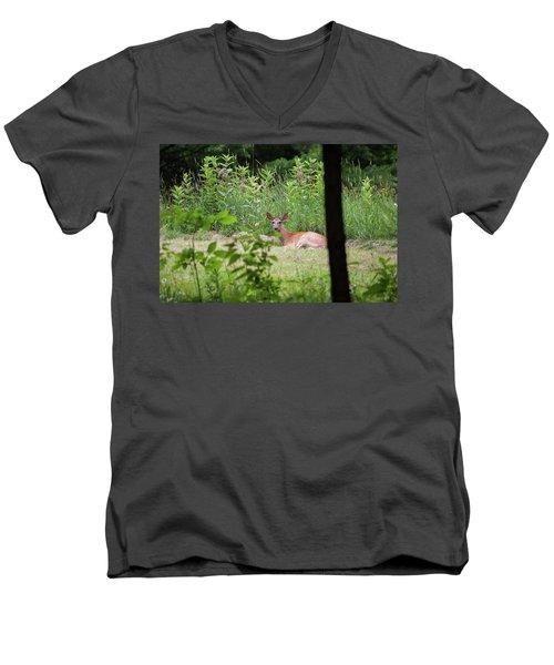 Del-1 Men's V-Neck T-Shirt