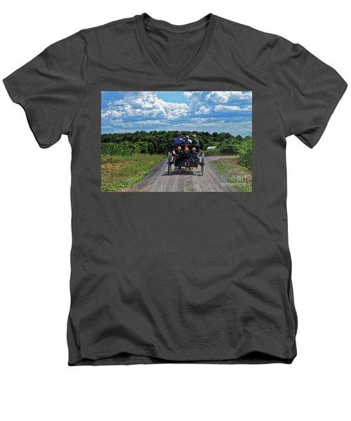 Delano Children Men's V-Neck T-Shirt by Paul Mashburn