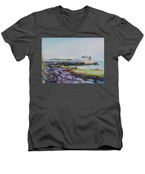 Delano's Wharf At Rock Nook Men's V-Neck T-Shirt by P Anthony Visco
