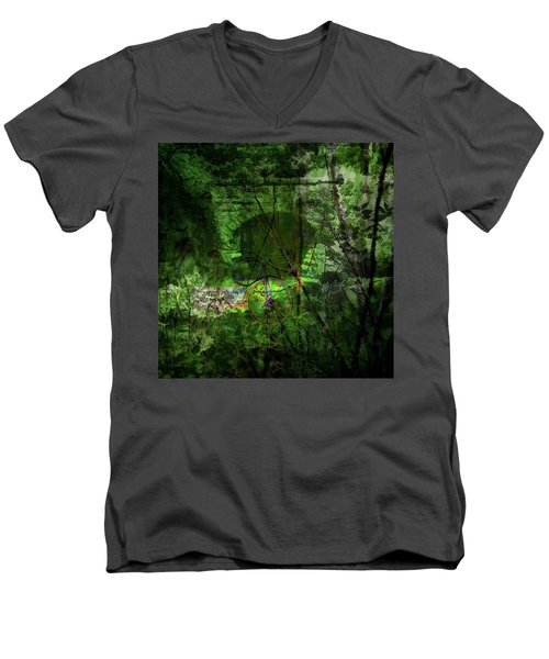 Delaware Green Men's V-Neck T-Shirt