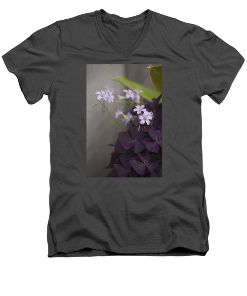 Delicate And Dark Men's V-Neck T-Shirt by Morris  McClung