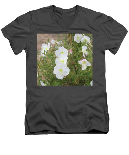 Delicate Desert Bloom - Death Valley Men's V-Neck T-Shirt