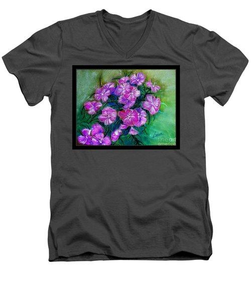 Delicate Pastel Men's V-Neck T-Shirt