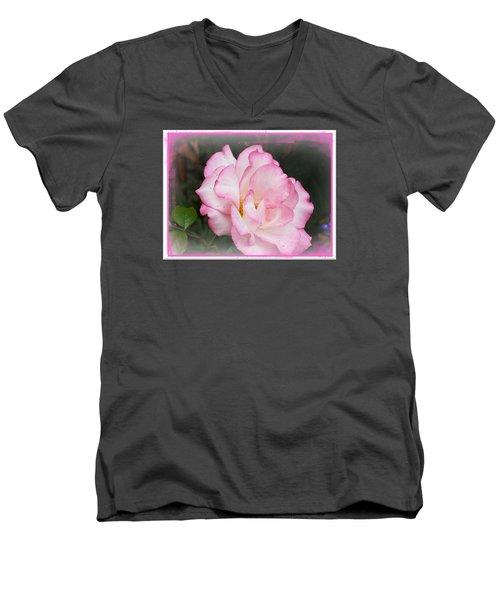 Delicate Pink Petals Men's V-Neck T-Shirt