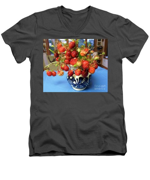 Delicate Men's V-Neck T-Shirt by Vicky Tarcau