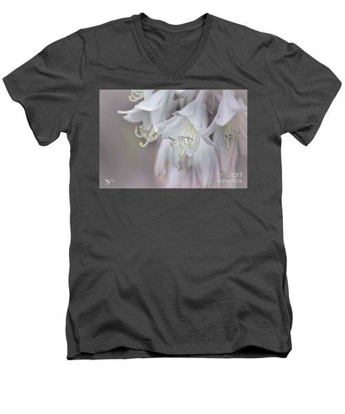 Delicate White Flowers Men's V-Neck T-Shirt