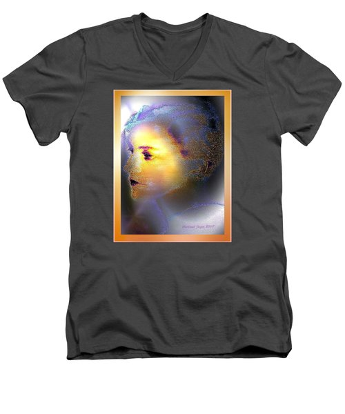 Delicate  Woman Men's V-Neck T-Shirt by Hartmut Jager