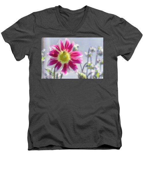 Delicious Dahlia Men's V-Neck T-Shirt
