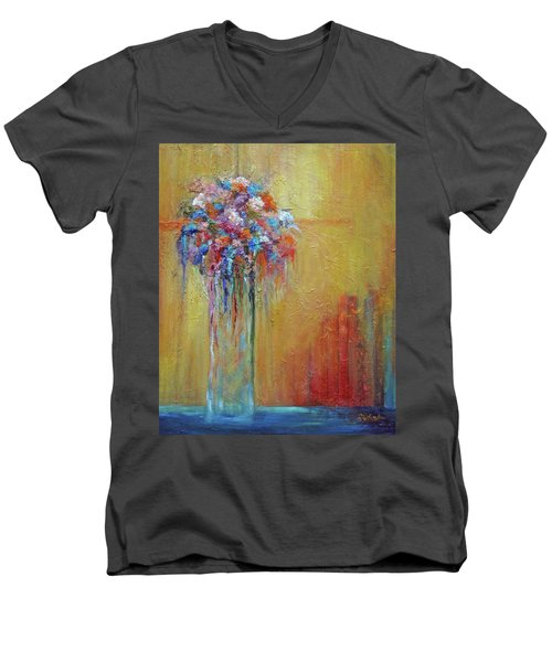 Delivered In Time Men's V-Neck T-Shirt by Roberta Rotunda