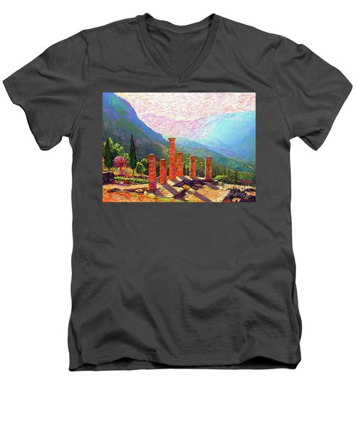 Delphi Magic Men's V-Neck T-Shirt by Jane Small