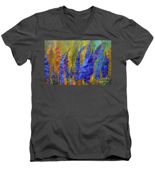 Delphiniums Men's V-Neck T-Shirt