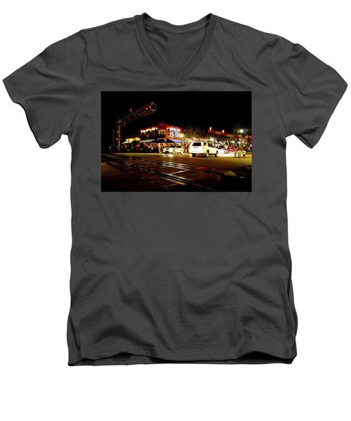 Delray Beach Railroad Crossing Men's V-Neck T-Shirt