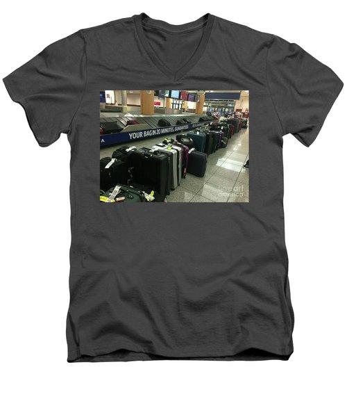 Men's V-Neck T-Shirt featuring the photograph Delta Irony by David Bearden