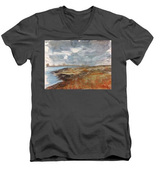 Delta Marsh - Fall Men's V-Neck T-Shirt